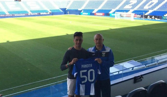 Ishan Pandita will wear the number 50 for CD Leganes