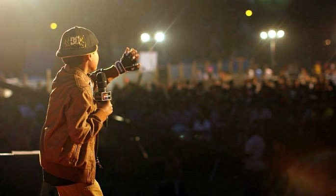 Noddy Khan was part of a performing line-up which included Ammy Virk in 2015