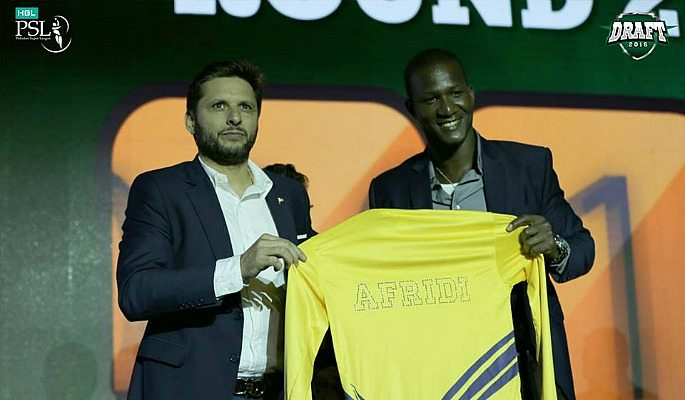 Shahid Afridi handed over the captaincy of Peshawar Zalmi to Darren Sammy