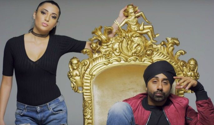 In the 'Salute' music video, Jassi Sidhu quite literally places himself on a golden throne