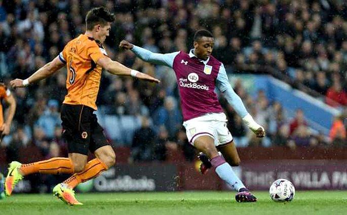 Danny Batth playing against Aston Villa