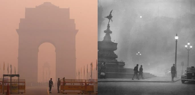 Delhi Air Pollution Compared to 1952 Smog of London