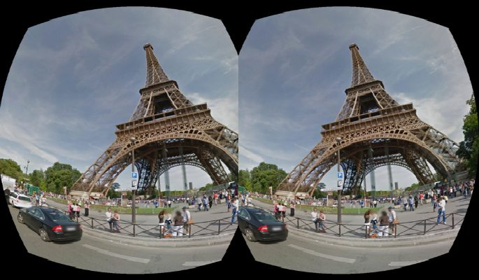 Effiel Tower Google Steet View