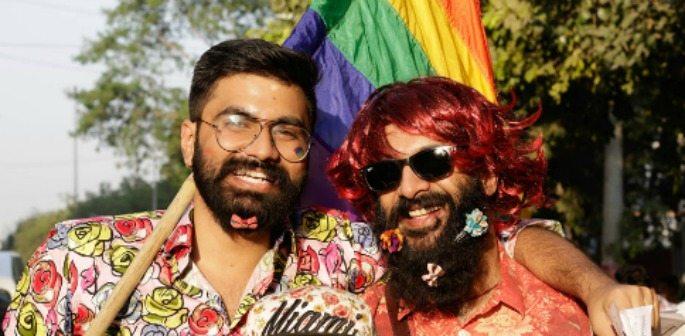 Gay Pride Parade colours New Delhi streets in India