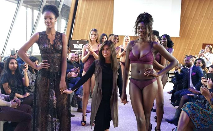Indian designer showcases new Lingerie collection at Eiffel Tower
