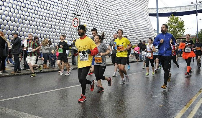 The Wolverhampton Marathon was Manish Patel's first full marathon