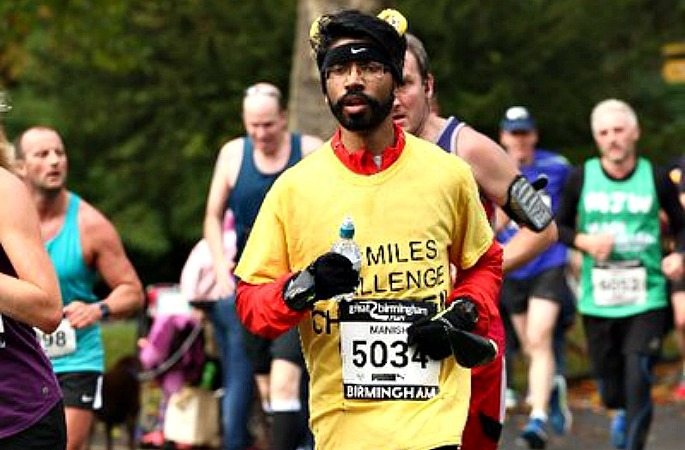 Manish Patel added 40 miles to his 500-mile challenge after finishing ahead of schedule