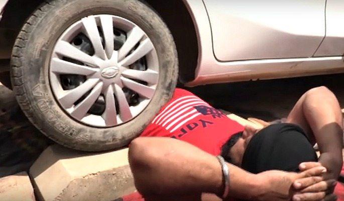 Amandeep Singh has a car run over his torso