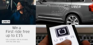 Win Free UBER Taxi Ride worth up to £15