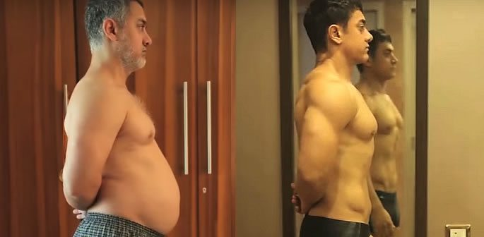 Aamir Khan goes from 'Fat to Fit' in Transformation for Dangal