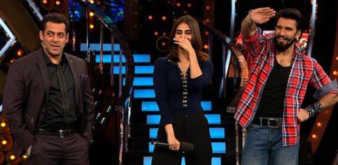 Ranveer and Vaani turn on Hotness Meter in Bigg Boss
