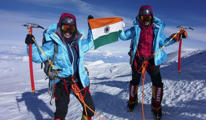 Nungshi and Tashi Malik are the first South Asians to complete the Explorers Grand Slam