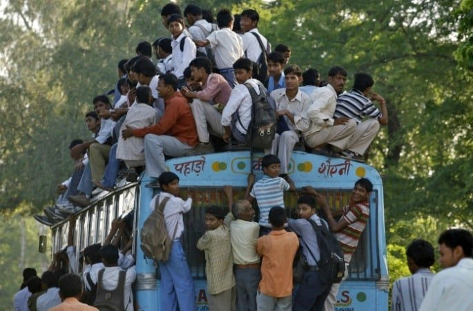 Are UK Buses becoming overcrowded like South Asia?