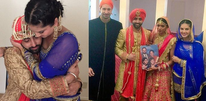 Sunny Leone is Traditional and Desi at her Brother's Wedding