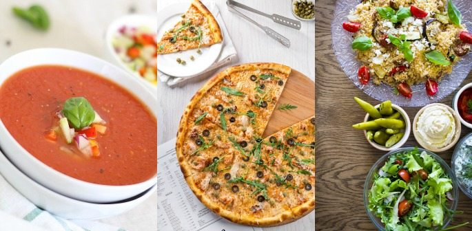 Soup/Pizza/Salad in 10 minutes