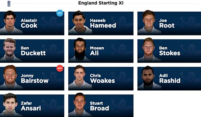Haseeb Hameed, Zafar Ansari, Moeen Ali, and Zafar Ansari were all a part of the England cricket team