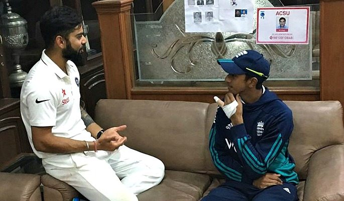 Haseeb Hameed spoke to Virat Kohli for advice after the third Test in Mohali