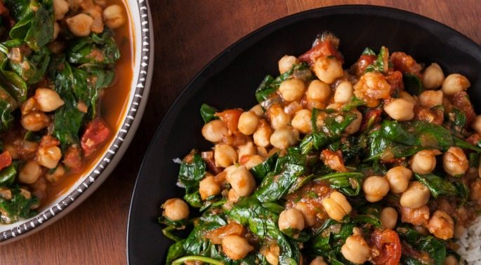 Healthy Recipes: Chickpea and Spinach Curry