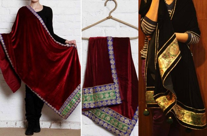 Luxurious Velvet Shawls for Winter- Image 6