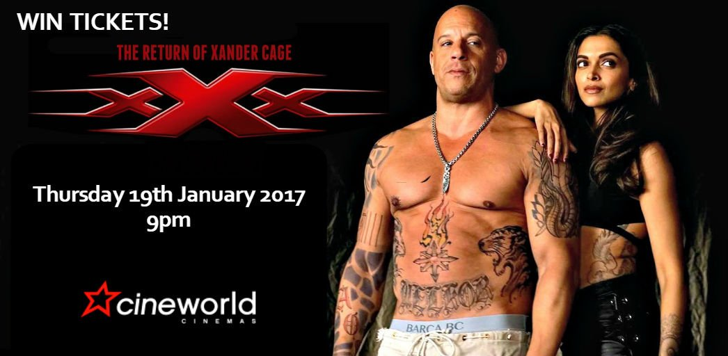 Win Tickets to see xXx: Return of Xander Cage