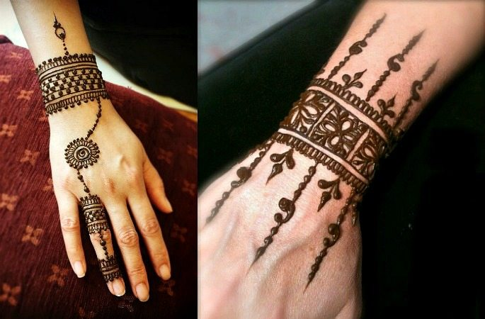 Mehndi Bracelet Design For Kids : Only bracelet mehndi design makedes