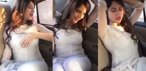 Pakistani actress Neelam Muneer performs Sexy Dance in Car