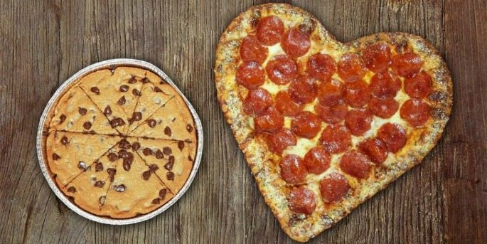 Heart Shaped Foods: Pizza