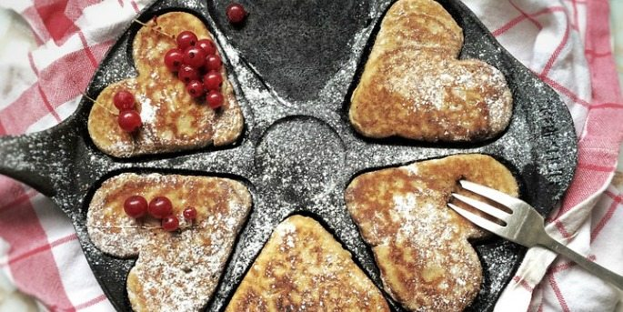 Heart Shaped Foods: Pancakes