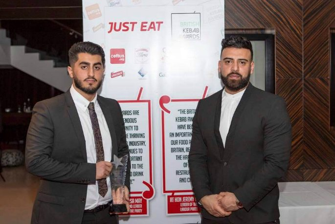 Winners of the British Kebab Awards 2017