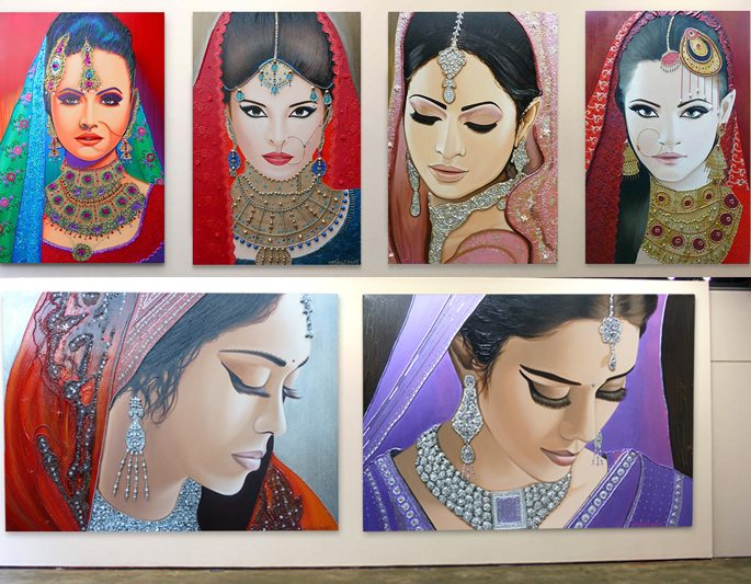 Frank Wagtmans ~ Dutch Painter of Indian Bridal Women