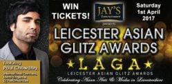 Win Tickets for the Leicester Asian Glitz Awards 2017