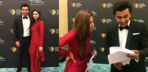 Mahira Khan speaks at the Global Teacher Prize ceremony alongside Ranbir Kapoor