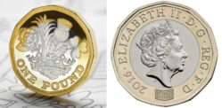 New 12-Sided £1 Coin replaces Old Round Pound