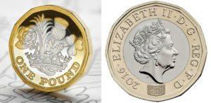 نیا 12 رخا £ 1 سکے نے پرانے گول پاؤنڈ کی جگہ لی ہے