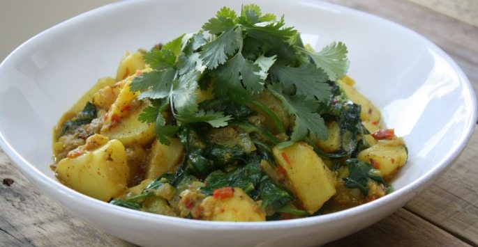 Saag Aloo Tofu Recipes