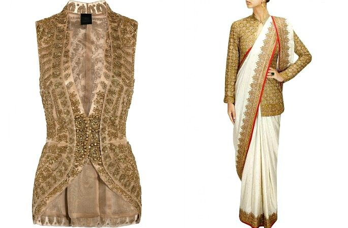 The Elegant Jacket look with Sarees