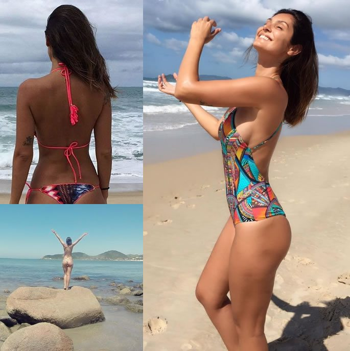 Bruna Abdullah has a 'Grand Masti' time in Bikini on Beach