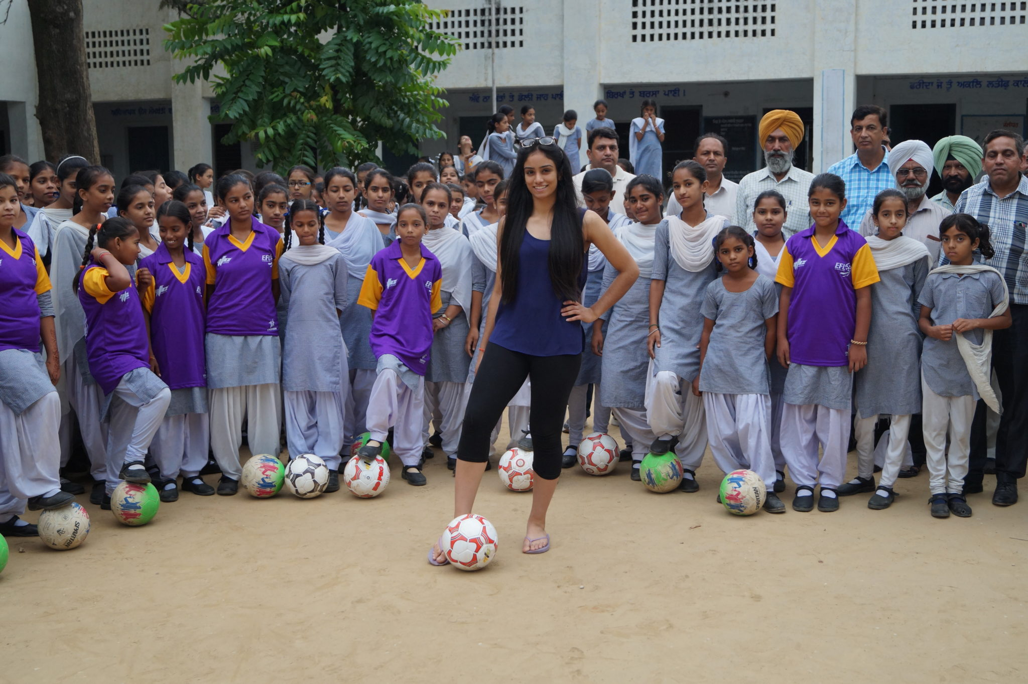 Harleen Kaur opening a girls sports club in India