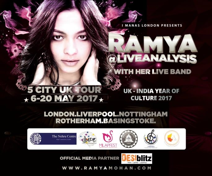 Ramya@LiveAnalysis 5 City UK Tour 2017