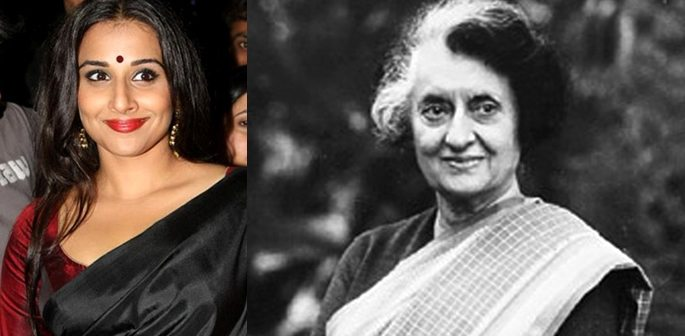 Vidya Balan Eyeing Up Biopic of Indira Gandhi