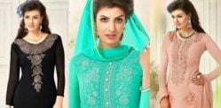 Beautiful Salwar Kameez with the Diamond Look