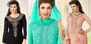 Beautiful Salwar Kameez with the Diamond Look