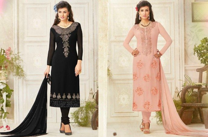 Beautiful Salwar Kameez with the Diamond Look - Image 1