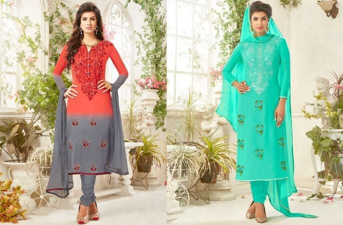 Beautiful Salwar Kameez with the Diamond Look - Image 2