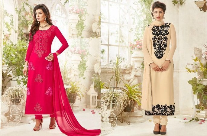 Beautiful Salwar Kameez with the Diamond Look - Image 4