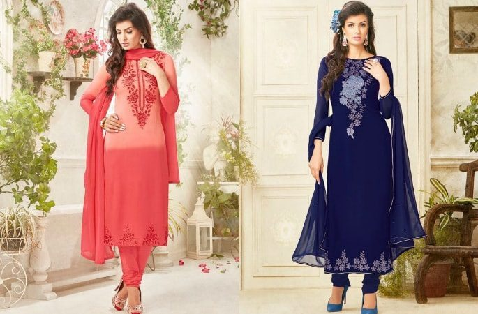 Beautiful Salwar Kameez with the Diamond Look - Image