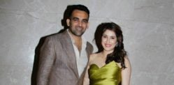 Cricketer Zaheer Khan and Sagarika Ghatge Engagement Party