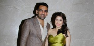 Cricketer Zaheer Khan and Sagarika Ghatge's Engagement Party