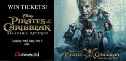 Win Tickets to see Pirates Of The Caribbean: Salazar's Revenge