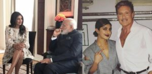 Priyanka Chopra meets Nerandra Modi and 'The Hoff' in Berlin